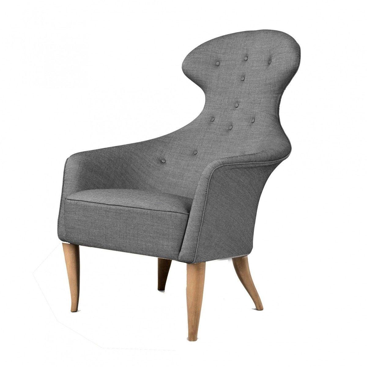 gubi eva lounge chair grey fabrics balder - Bergroer Sessel Und Ottomane