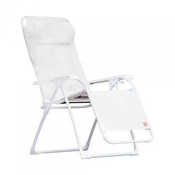 Jan Kurtz - Limited Edition Fiam Amida Relaxliege - weiß/Bezug Textilene/stufenlos verstellbar
