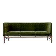 &tradition - Mayor AJ5 3-Sitzer Sofa Gestell Nussbaum