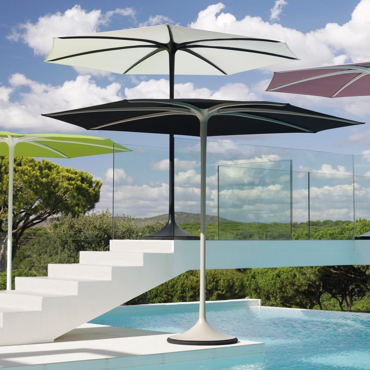 palma parasol with base 300cm royal botania. Black Bedroom Furniture Sets. Home Design Ideas