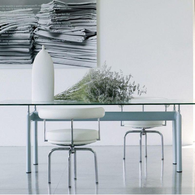 Le corbusier lc6 table cassina cassina for Mesa cristal le corbusier