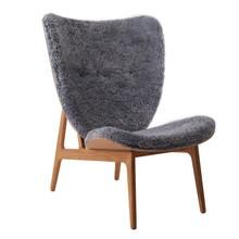 NORR 11 - Elephant Lounge Sessel Schaffell Gestell geräucherte Eiche