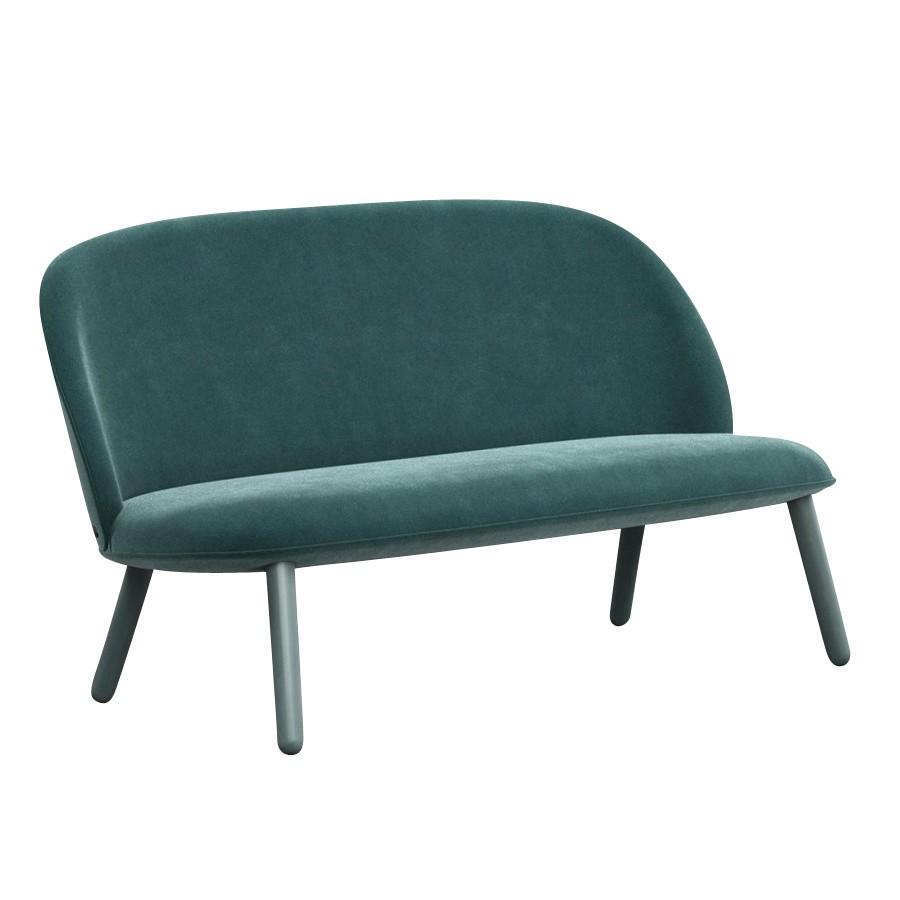 ... Normann Copenhagen   Ace Sofa Velour   Lake Blue Fabric Velour/frame  Beech Stained/