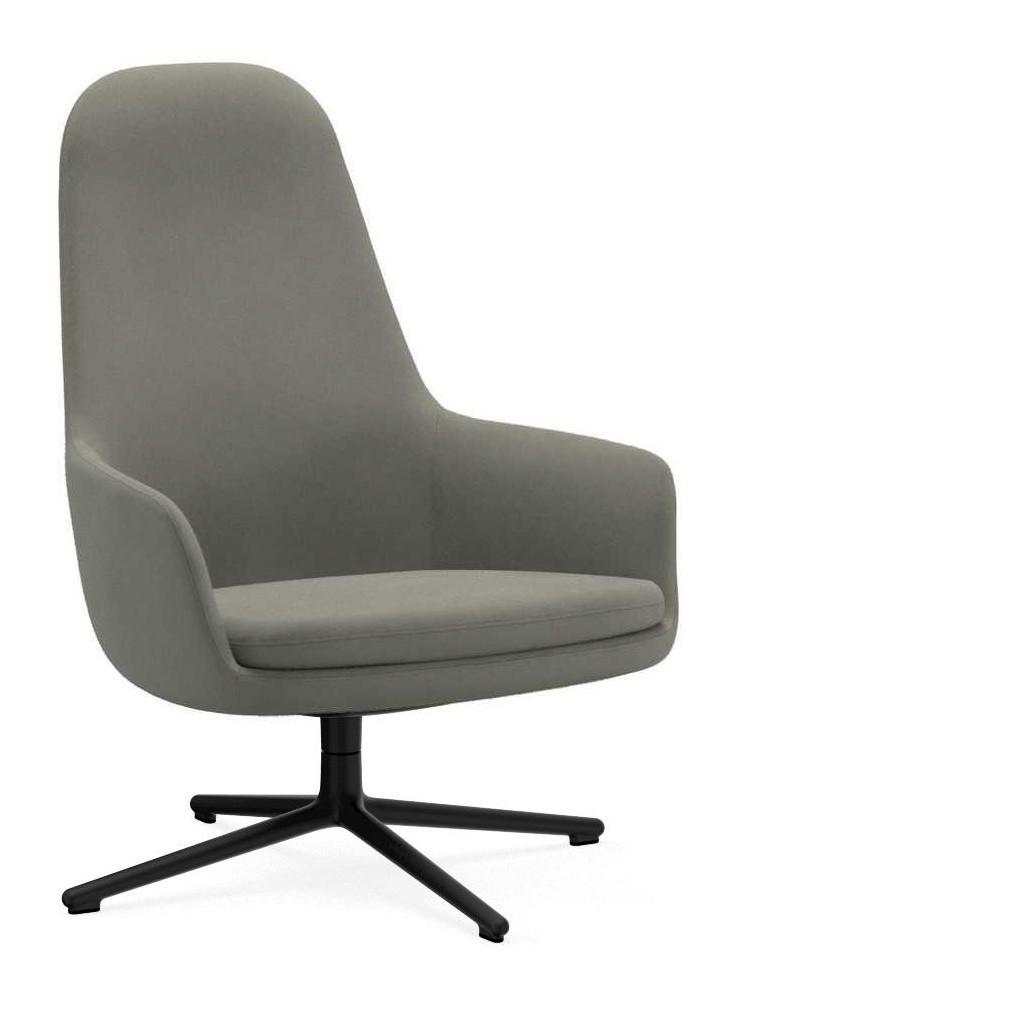 Era Lounge Chair High Swivel Chair Black Alu