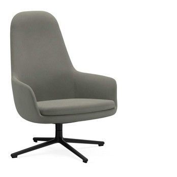 Normann Copenhagen - Era Lounge Chair Low Drehstuhl Alu - grau Stoff Fame 61136/Gestell aluminium/H x B x T: 103 x 83 x 83 cm