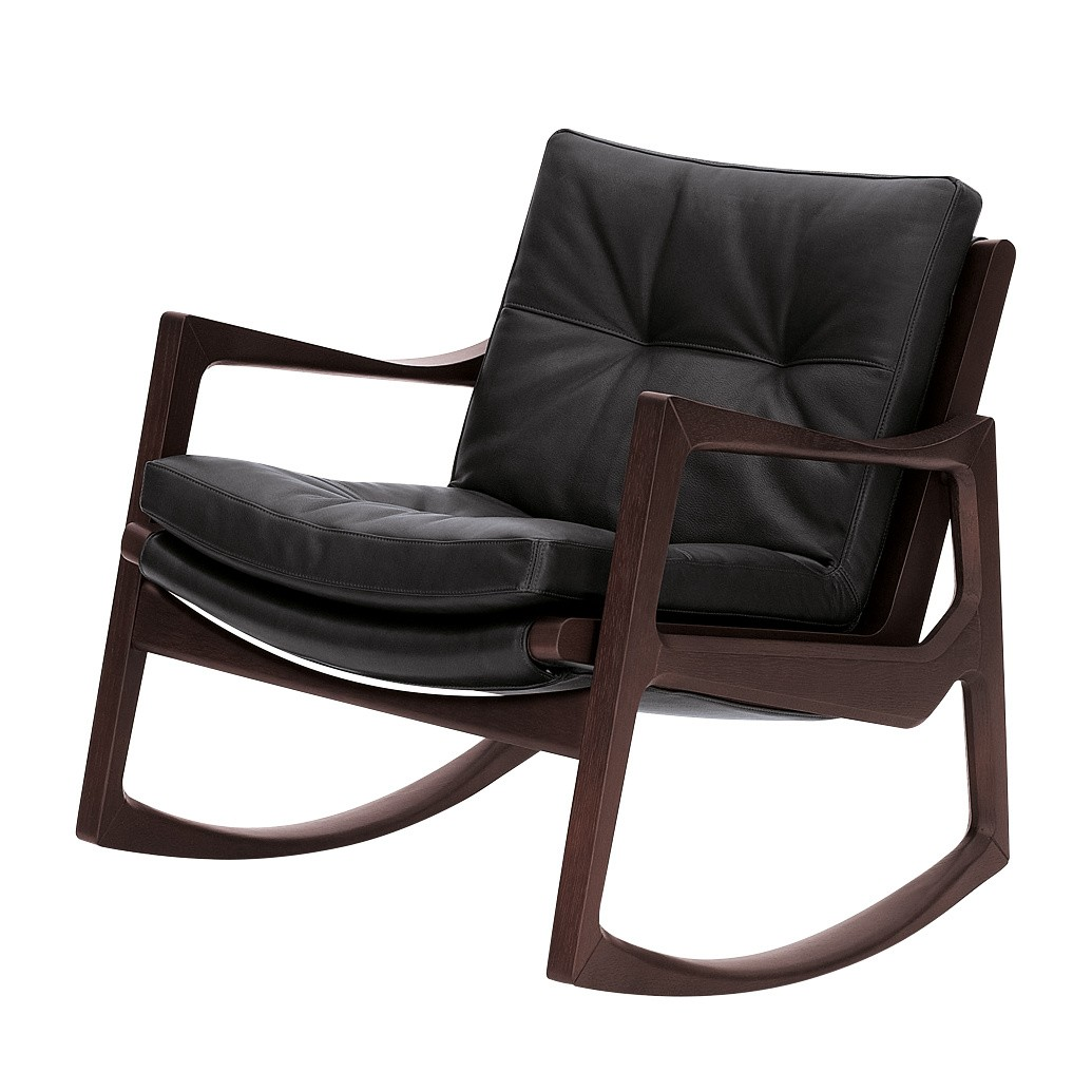 Clicon Euvira Rocking Chair Leather