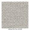 MDF Italia - Flow Slim Armlehnstuhl gepolstert New Edition 2 - braun-grau/weiß/Schale weiß/Gestell Eiche/Stoff Monaco R313 Col. 443.000/B56 x T56 x H76.4 cm