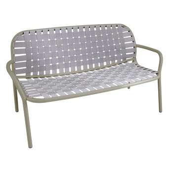 emu - Yard Gartensofa 2-Sitzer - grau/grün/Sitz elastische Gurte grau/grün/BxHxT 139x77x71,5cm/Gestell Aluminium grau/grün