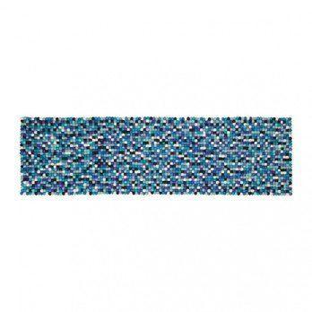 myfelt - Emma Tischläufer - blau/weiß/40x140cm