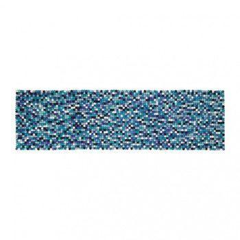 - Emma Tischläufer - blau/weiß/40x140cm