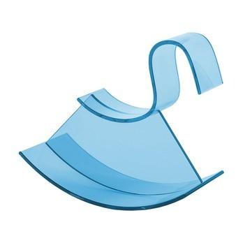 Kartell - H-Horse Schaukelpferd - hellblau/transparent/LxBxH 62 x 28 x 73cm