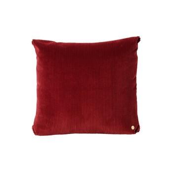 ferm LIVING - ferm LIVING Corduroy Kissen 45x45cm - backstein rot/45x45cm/mit Reißverschluss und Füllung
