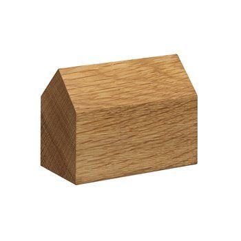 e15 - e15 AC10 Haus Briefbeschwerer - eiche/LxBxH 8.6x4.3x6.5cm/Satteldach