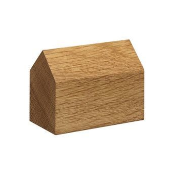 - e15 AC10 Haus Briefbeschwerer - eiche/LxBxH 8.6x4.3x6.5cm/Satteldach