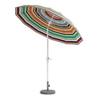 Weishäupl - Pagode Sonnenschirm mit Knickmechanismus - multicolor/Gestell weiß/ohne Fuß/Ø x H: 240 x 239cm