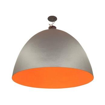 Ingo Maurer - XXL Dome Pendelleuchte - silber/orange