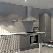 KitchenForm - Basic Einbauküche  - Fronten dunkelgrau/weiß
