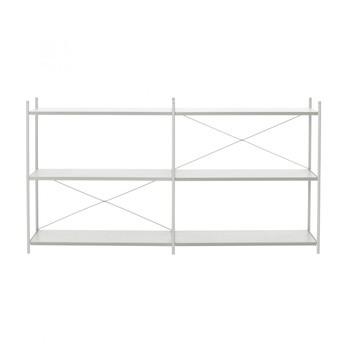 ferm LIVING - Punctual Regalsystem 2x3 - grau/6 Regalbretter/186.2x100x42cm
