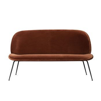 - Beetle Sofa - rostrot/Stoff Velluto di Cotone 130/BxHxT 140x79x63cm/Gestell schwarz