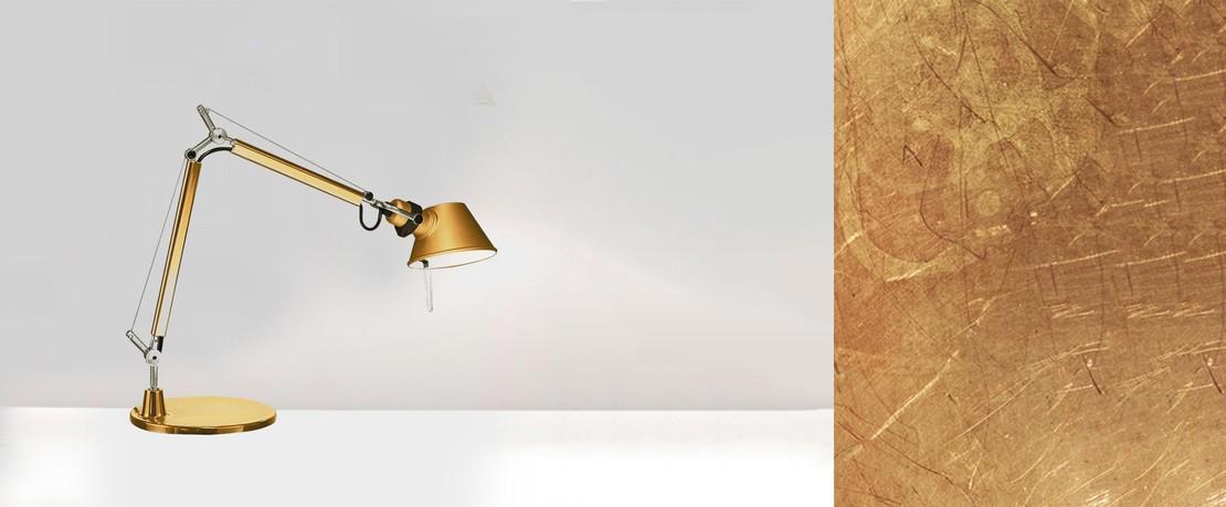 Artemide Tolomeo Leuchte in Gold
