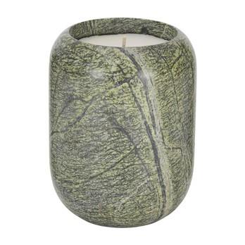 Tom Dixon - Materialism Stone Candle Kerze L - grün/H 14cm, Ø 10,5cm