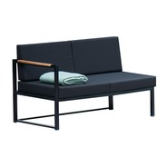 Jan Kurtz - Lux Lounge Sofa 2 Seater Black