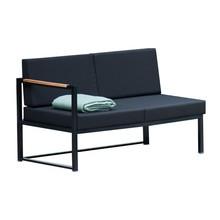 Jan Kurtz - Canapé d'extérieur 2 places Lux Lounge noir