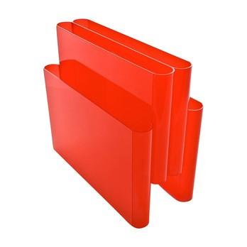 Kartell - Kartell Magazine Rack - orange red/polymetilmetacryl