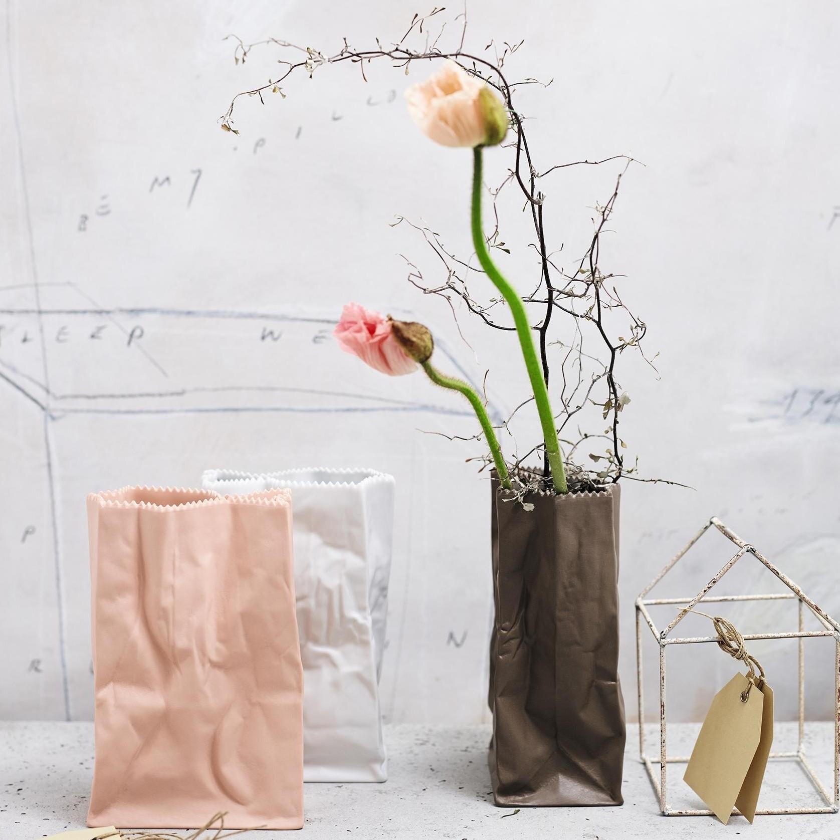 M Rosenthal Vase Tütenvase Weiß