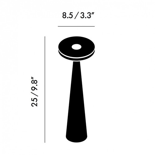 Tom Dixon - Stone Kerzenhalter H: 25cm - Strichzeichnung