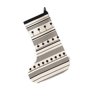 - ferm LIVING Weihnachtsstrumpf 24193 - schwarz/weiß/LxB 50x35cm/chemisch reinigen