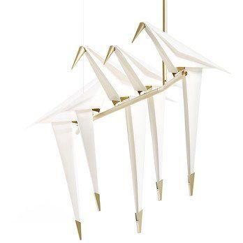 Moooi - Perch Light  LED Branch Pendelleuchte - weiß/messing/L: 100cm/2700K/560lm