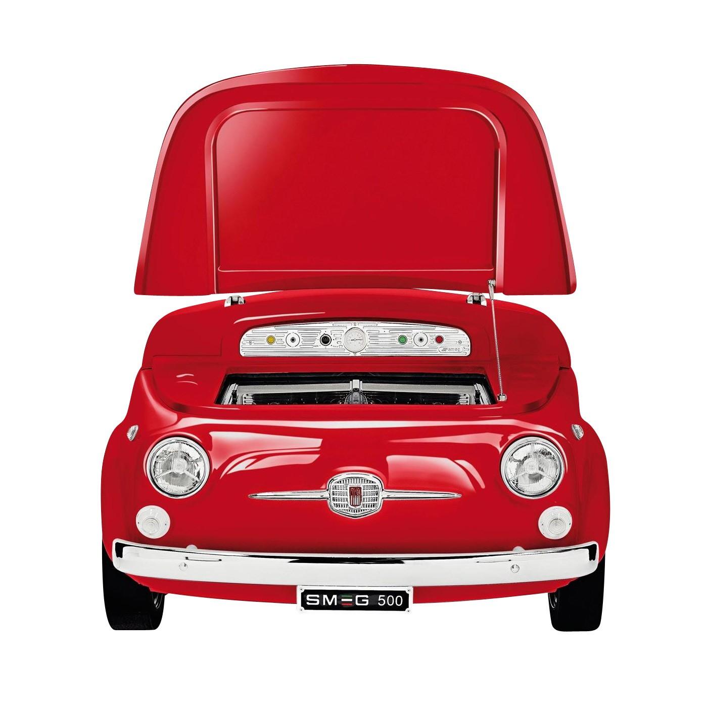 Smeg Fiat 500 Minibar Kühltruhe Rot 125x80x83cm Fiat500