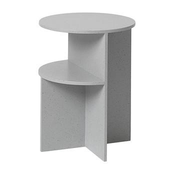 Muuto - Halves Beistelltisch 29001 - hellgrau/Kunststein/H 35.5cm/Ø 47cm