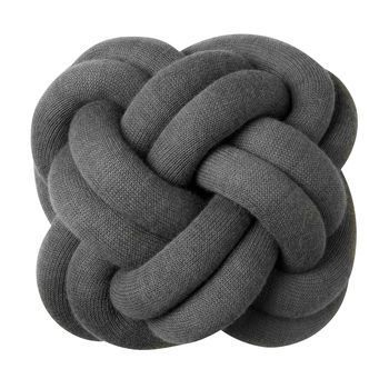 DesignHouseStockholm - Knot Kissen - grau/waschbar bei 30°C/30x30x15cm