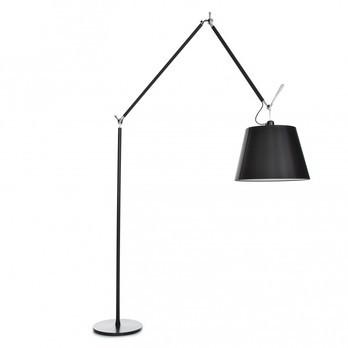 artemide tolomeo mega floor lamp black with dimmer ambientedirect