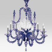 deMajo - Vivaldi K9 Kronleuchter - violett/Murano-Glas