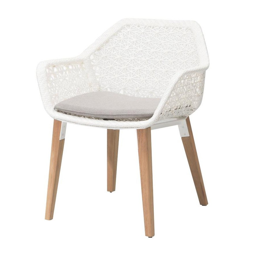 Kettal Maia - Chaise de jardin piètement en bois | AmbienteDirect