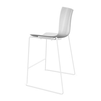 Stupendous Catifa 46 0471 Bar Stool Unicoloured White Caraccident5 Cool Chair Designs And Ideas Caraccident5Info