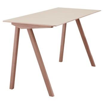 HAY - Copenhague CPH90 Schreibtisch - eiche/Tischplatte off white/lackiert/130x65x74cm/Linoleum Tischplatte