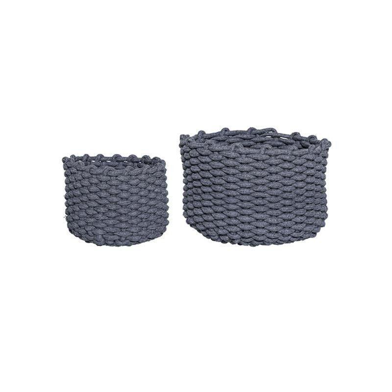 bloomingville textile korb 2er set bloomingville. Black Bedroom Furniture Sets. Home Design Ideas