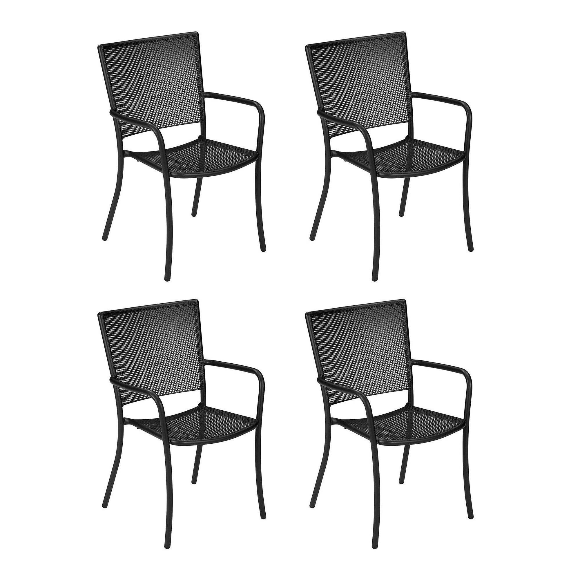Outstanding Athena Garden Armchair Set Of 4 Creativecarmelina Interior Chair Design Creativecarmelinacom