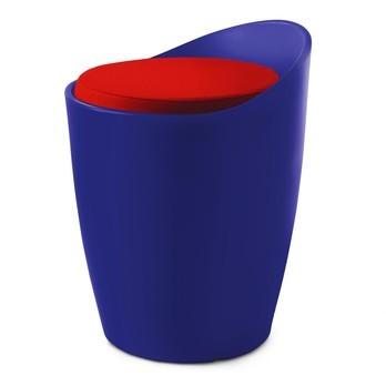 Authentics - Otto Sitzhocker - blau/Polyethylen/ohne Sitzkissen