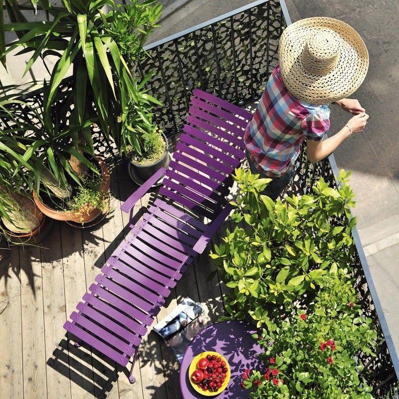 Gartenmobel Teak Kissenbox : Bistro Metall Liegestuhl  Fermob  AmbienteDirectcom