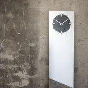 - LEFF Inverse Standuhr - spiegel/holz schwarz/BxH: 50x180cm