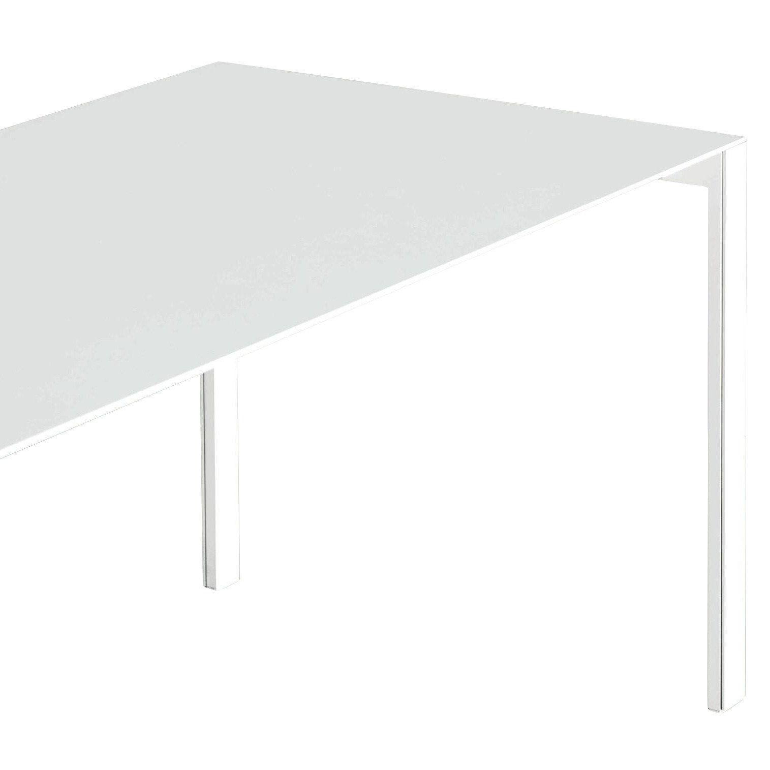 Kristalia   Thin K Aluminium Tisch Ausziehbar   Weiß/Gestell ...