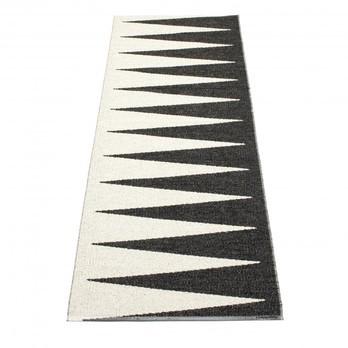 pappelina - Vivi Teppich 70x250cm - schwarz/vanille