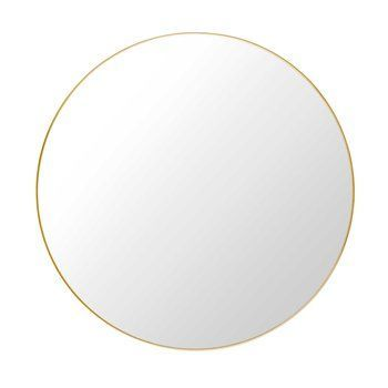 Gubi - Gubi Mirror Round Ø110cm - brass/polished/Ø 110cm
