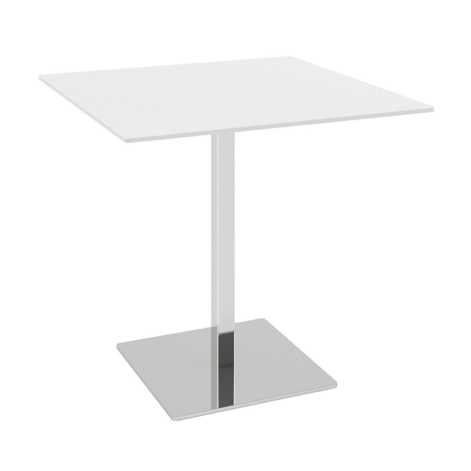 Infiniti   Plano Bistro Table   White/chrome/frame ...
