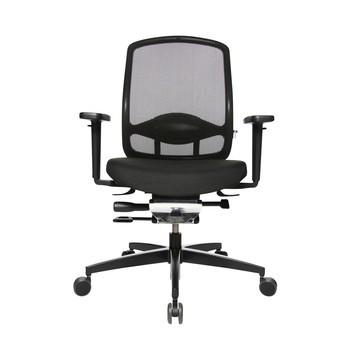 Wagner - AluMedic 5 Bürostuhl - schwarz/Bezug Stoff/Sternfußgestell Aluminium schwarz/mit Rollen für Hartböden